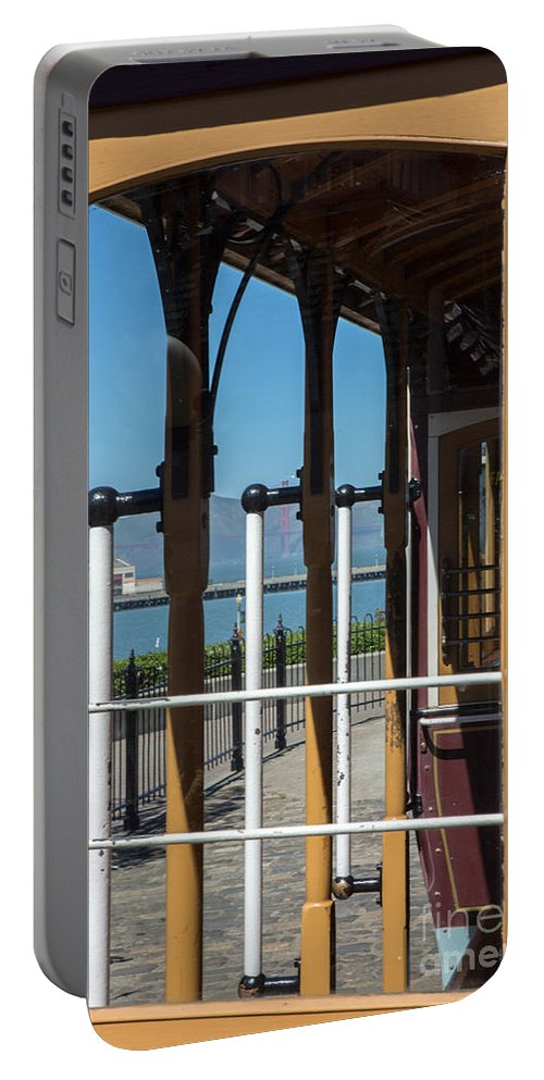 Iris Holzer Richardson Portable Battery Charger featuring the photograph Trolley 28 by Iris Richardson