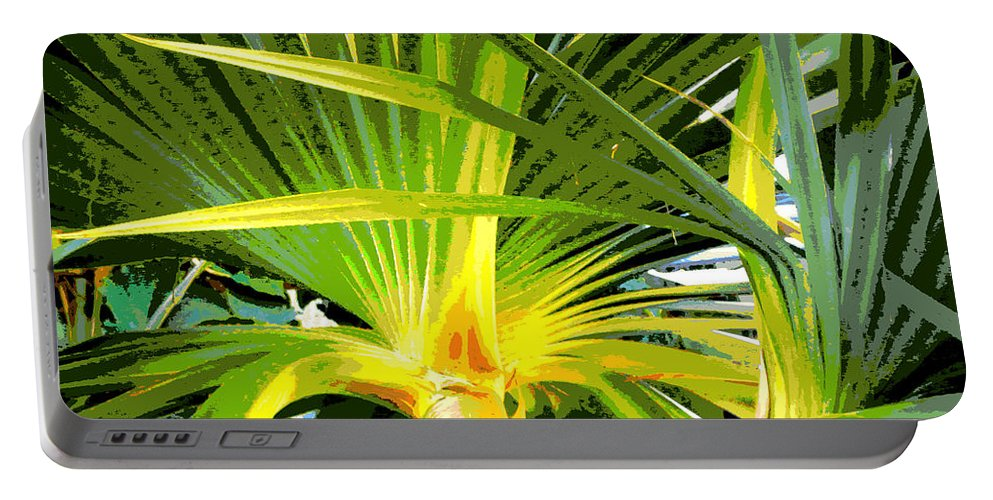 Tree Portable Battery Charger featuring the photograph Tropical Leaves by Tina Meador