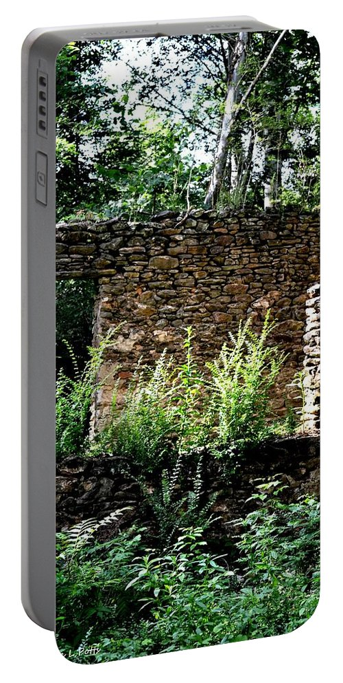 Troup Factory Ruins Portable Battery Charger featuring the photograph Troup Factory by Tara Potts