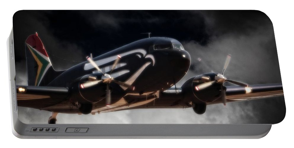 Douglas Dc-3 C-47 Portable Battery Charger featuring the photograph Trubute To Heroes by Paul Job