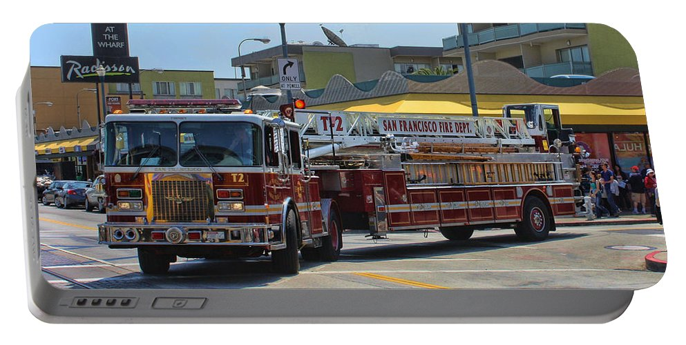 Fire Truck Portable Battery Charger featuring the photograph Truck 2 Sffd by Tommy Anderson