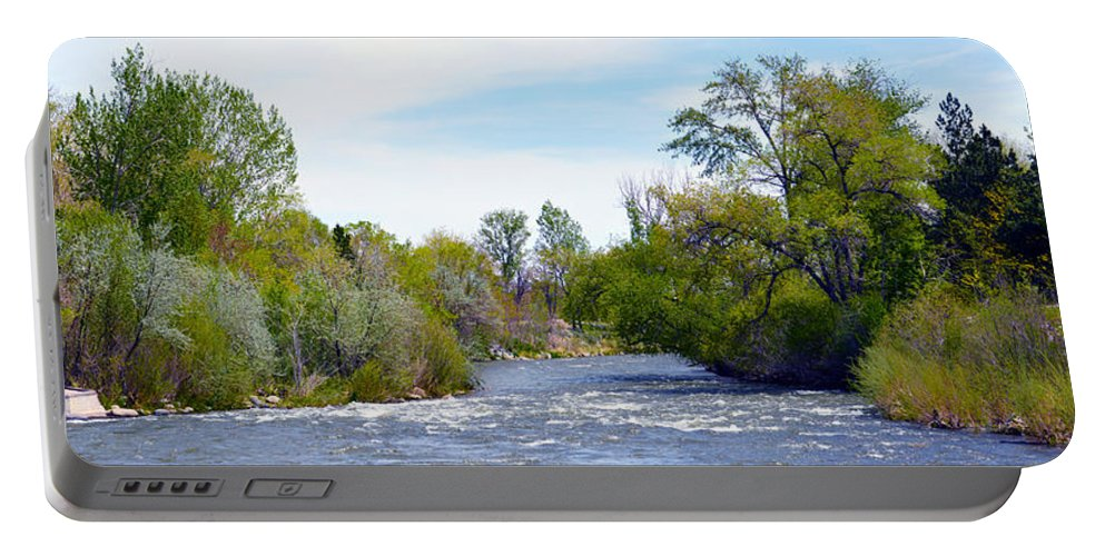 Son Portable Battery Charger featuring the photograph Truckee River by Brent Dolliver