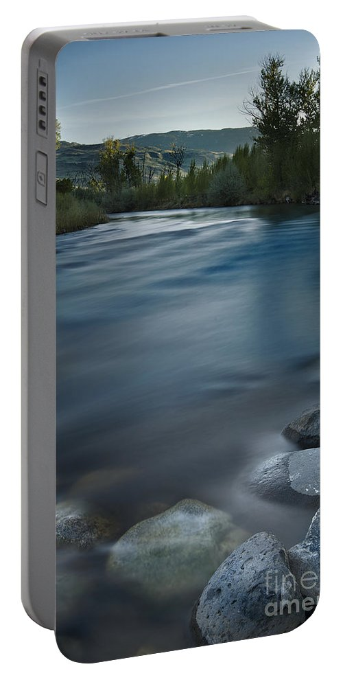 Truckee Portable Battery Charger featuring the photograph Truckee River by Dianne Phelps
