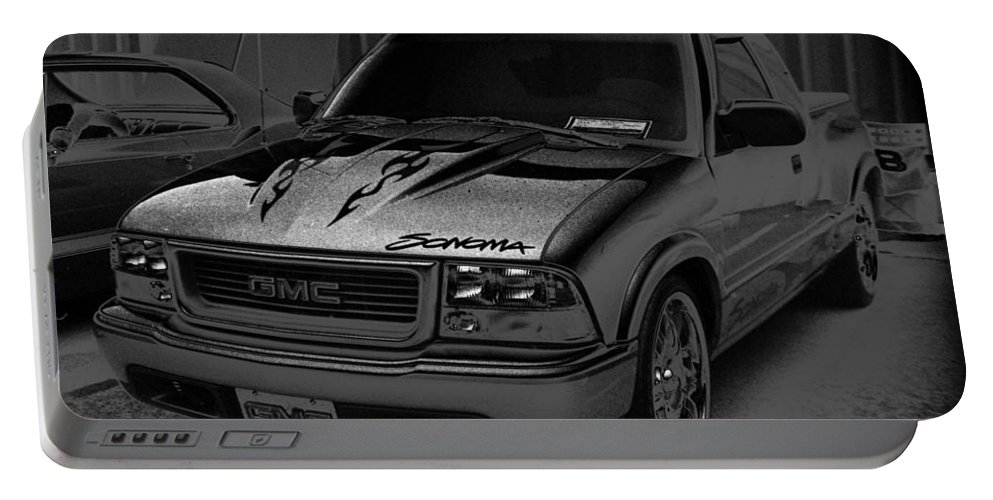 Truck Portable Battery Charger featuring the photograph Trucks by Verana Stark