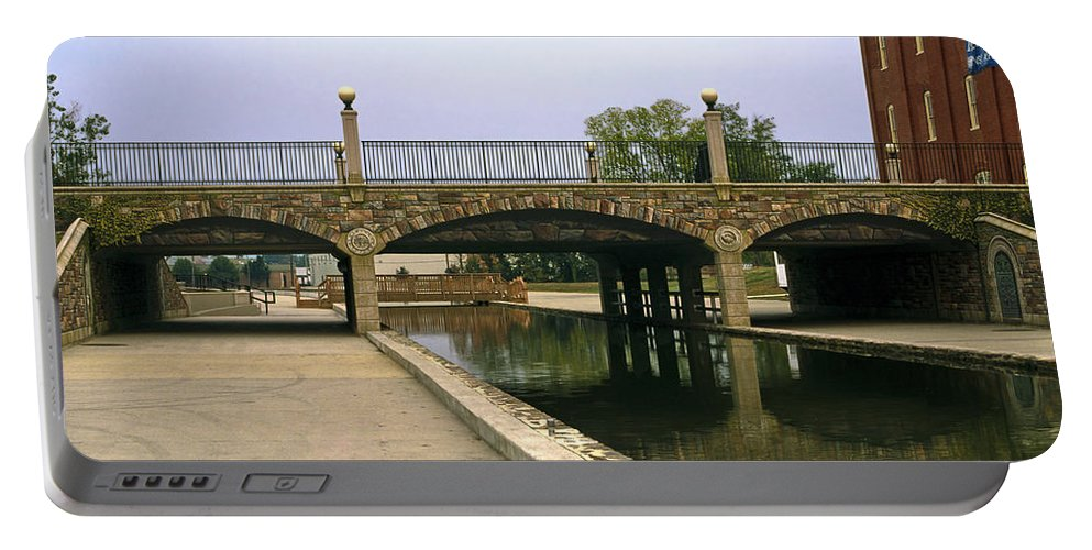 Community Bridge Portable Battery Charger featuring the photograph Trump L'oiel Community Bridge by Sally Weigand