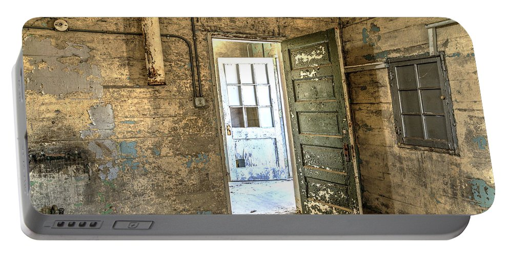 Doors Portable Battery Charger featuring the photograph Trustee-2 by Charles Hite
