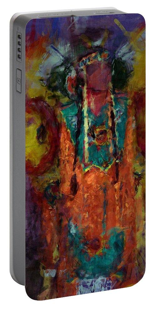 Tsudalenvda Dikanodi Portable Battery Charger featuring the digital art Tsudalenvda Dikanodi by Christy Leigh