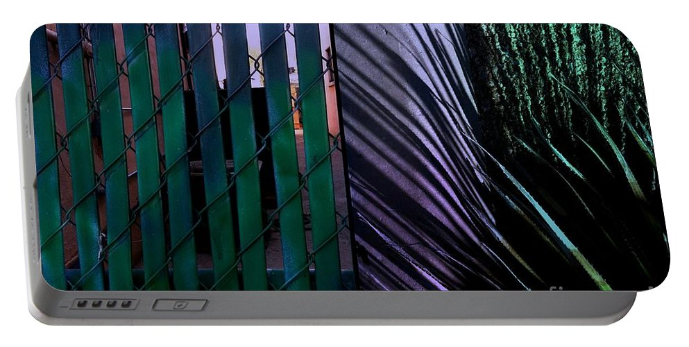 Chevron Portable Battery Charger featuring the photograph Tucson Chevron by Marlene Burns