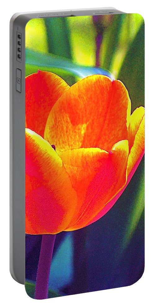 Tulip Portable Battery Charger featuring the photograph Tulip 2 by Pamela Cooper