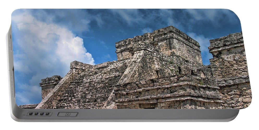 Tulum Portable Battery Charger featuring the photograph Tulum by David Gleeson