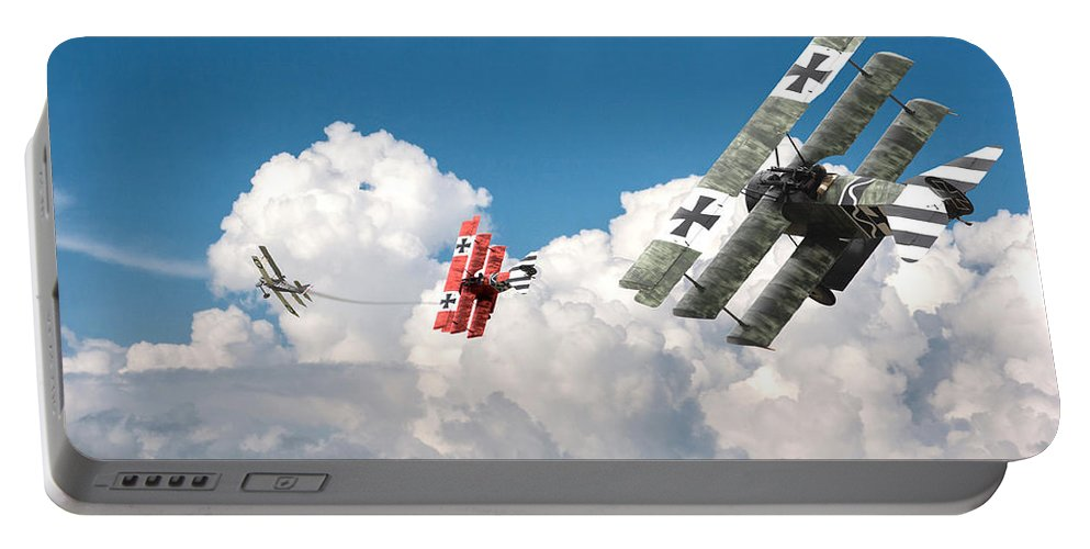 Aircraft Portable Battery Charger featuring the photograph Tumult In The Clouds by Pat Speirs