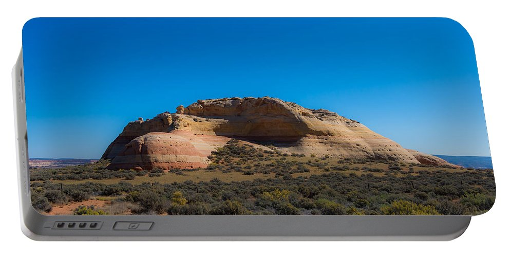 Donna Giesbrecht Portable Battery Charger featuring the photograph Turtle Mountain by Randy Giesbrecht