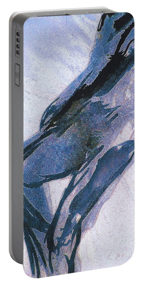 First Star Art Portable Battery Charger featuring the painting Twist by First Star Art
