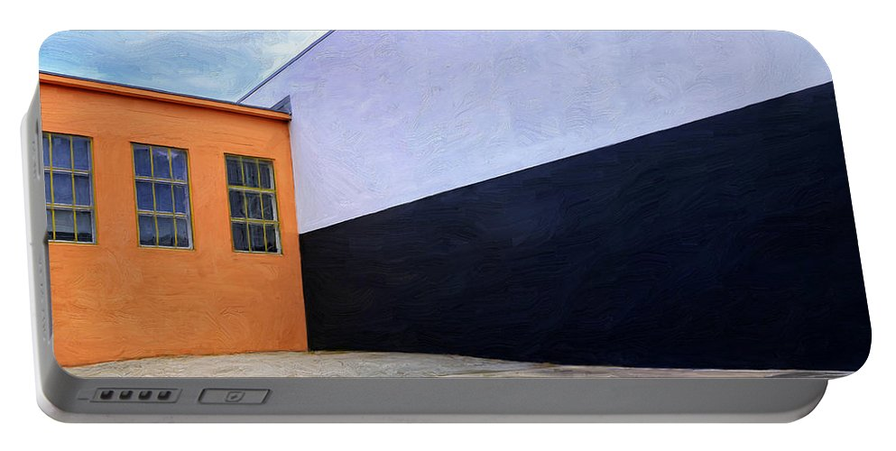 Buildings Portable Battery Charger featuring the painting Two Buildings by Dominic Piperata
