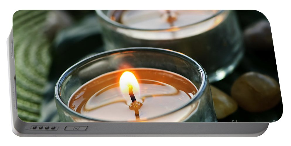 Candles Portable Battery Charger featuring the photograph Two Candles by Elena Elisseeva