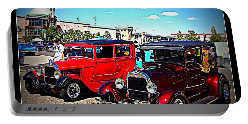 Classics Portable Battery Charger featuring the photograph Two Classy Classics by Bobbee Rickard