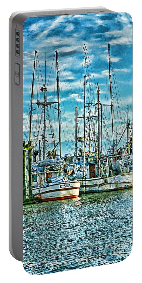 Boats Portable Battery Charger featuring the photograph Two Fishing Boats Hdr by Randy Harris