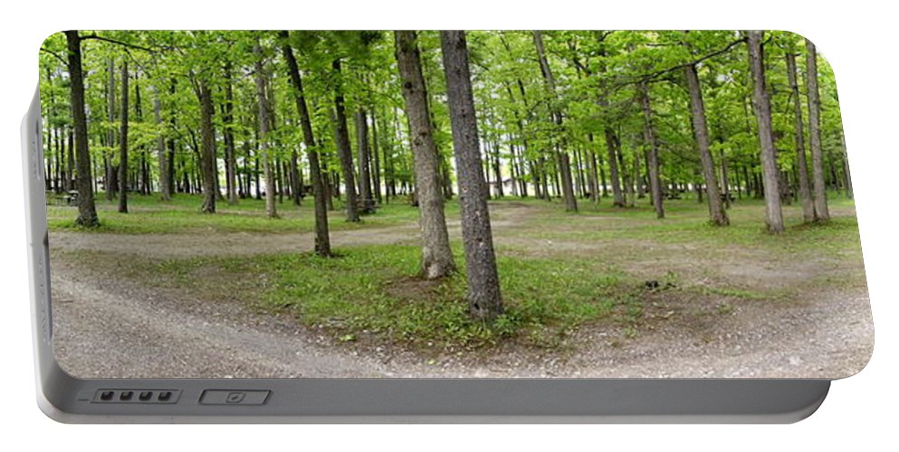 Two Roads Diverged Portable Battery Charger featuring the photograph Two Roads Diverged Letchworth State Park Panorama by Rose Santuci-Sofranko