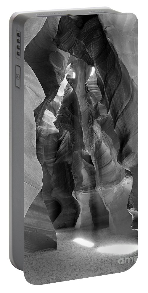 Upper Antelope Canyon Portable Battery Charger featuring the photograph Two Shafts by Mae Wertz