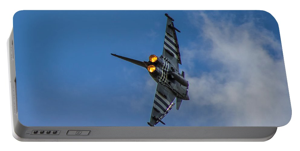 Duxford Portable Battery Charger featuring the photograph Typhoon Jet by Martin Newman