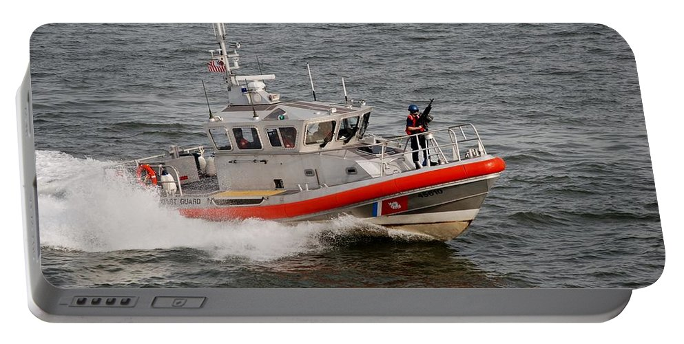 Harbor Portable Battery Charger featuring the photograph U S Coast Guard by Rob Hans