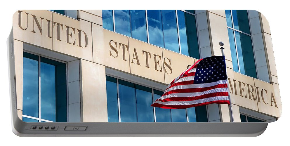 United States Of America Portable Battery Charger featuring the photograph U S Of A by David Lee Thompson