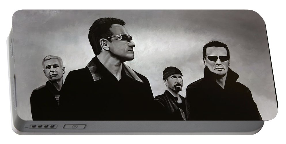 U2 Portable Battery Charger featuring the painting U2 by Paul Meijering