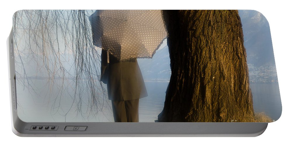 Woman Portable Battery Charger featuring the photograph Umbrella And Tree by Mats Silvan