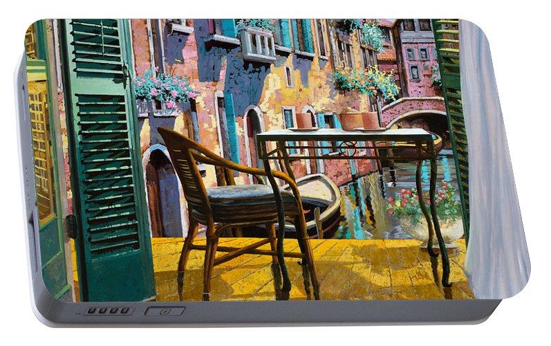 Un Soggiorno A Venezia Portable Battery Charger for Sale by Guido ...
