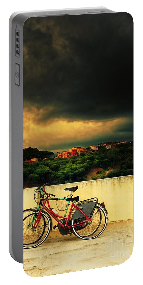 Moody Portable Battery Charger featuring the photograph Under An Ominous Sky by Silvia Ganora