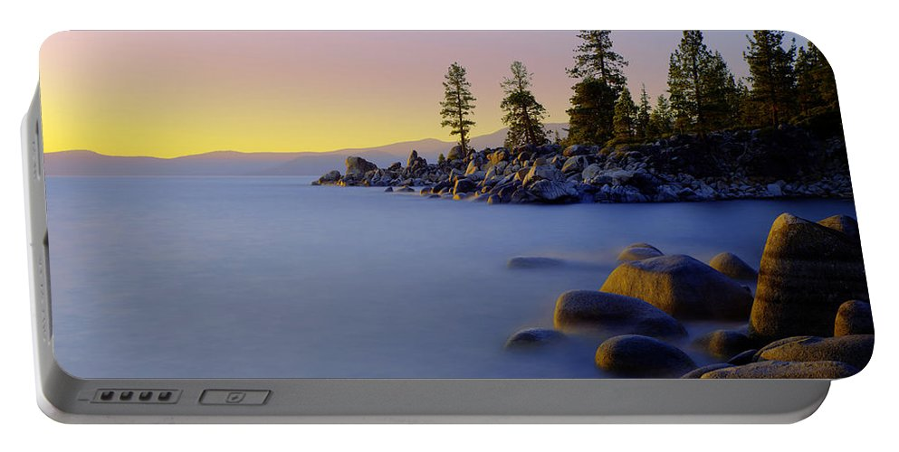Lake Tahoe Portable Battery Charger featuring the photograph Under Clear Skies by Chad Dutson