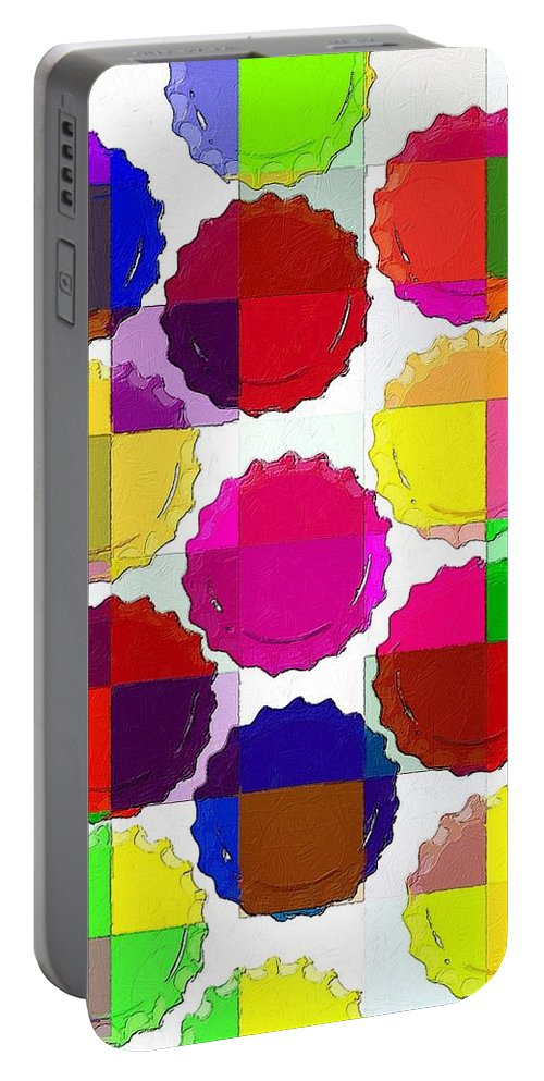 Colors Portable Battery Charger featuring the painting Under The Blanket Of Colors by Florian Rodarte