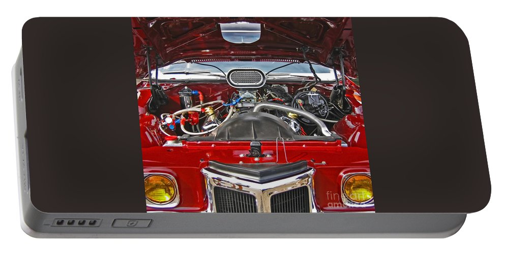 Car Portable Battery Charger featuring the photograph Under The Hood by Ann Horn