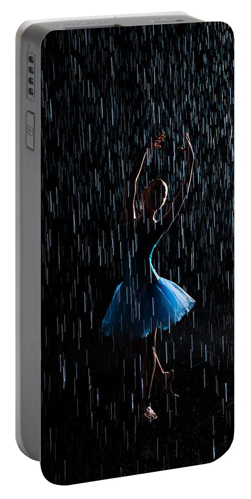 Abstract Portable Battery Charger featuring the photograph Under The Rain by Zina Zinchik