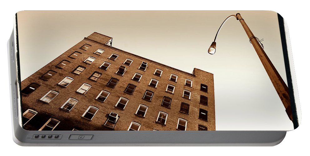 New York Portable Battery Charger featuring the photograph Under The Street Lamp by Donna Blackhall