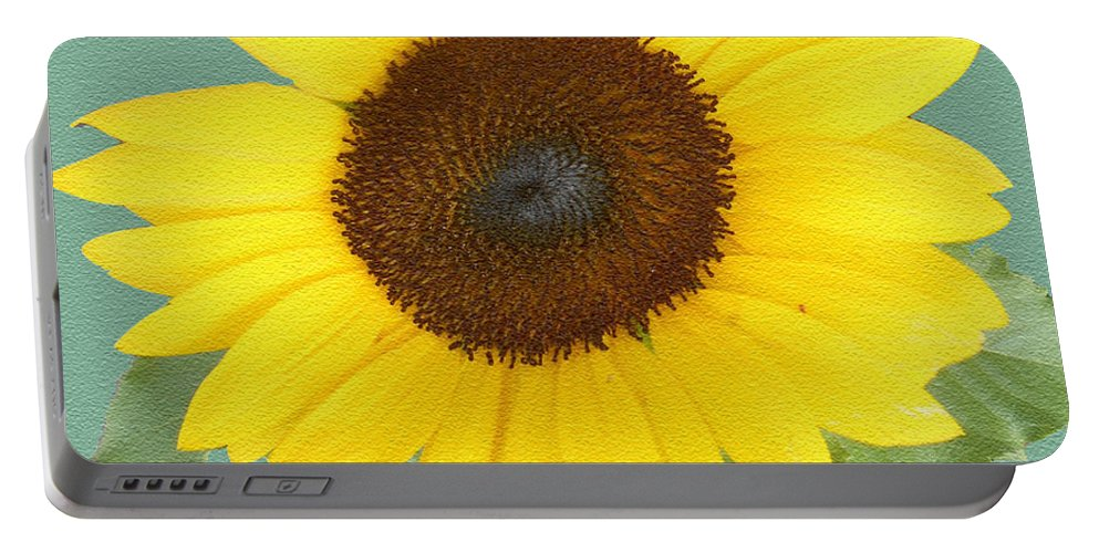 Sunflower Portable Battery Charger featuring the photograph Under The Sunflower's Spell by Patricia Keller