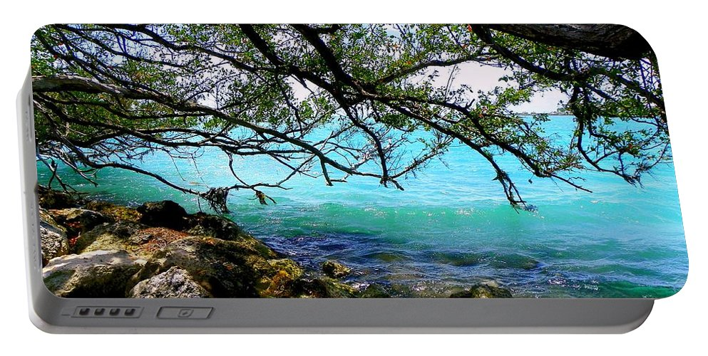 Florida Keys Portable Battery Charger featuring the photograph Underneath by Karen Wiles
