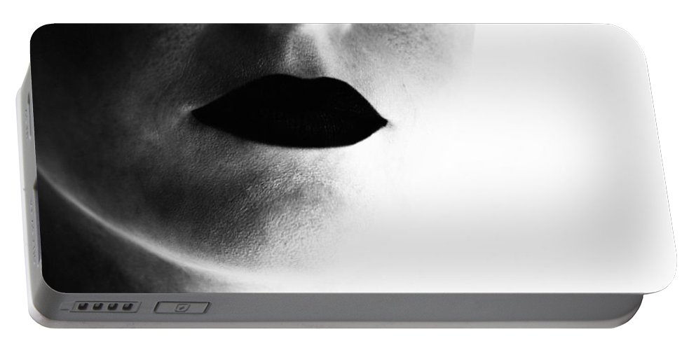 Lips Portable Battery Charger featuring the photograph Uninvited by Zapista