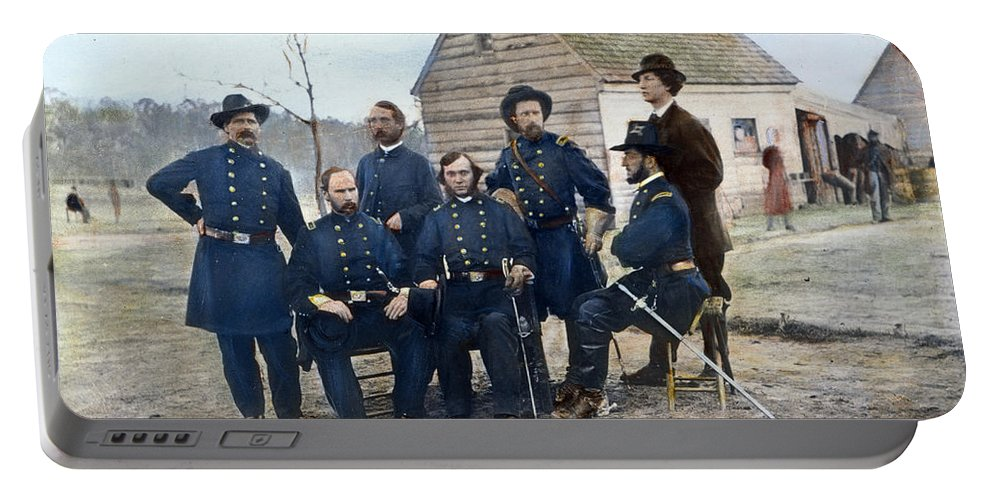1865 Portable Battery Charger featuring the photograph Union Army Surgeons, 1865 by Granger