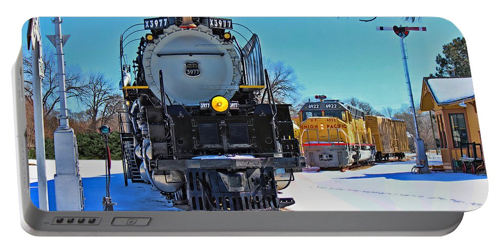 Steam Engine Portable Battery Charger featuring the photograph Union Pacific Challenger by Sylvia Thornton