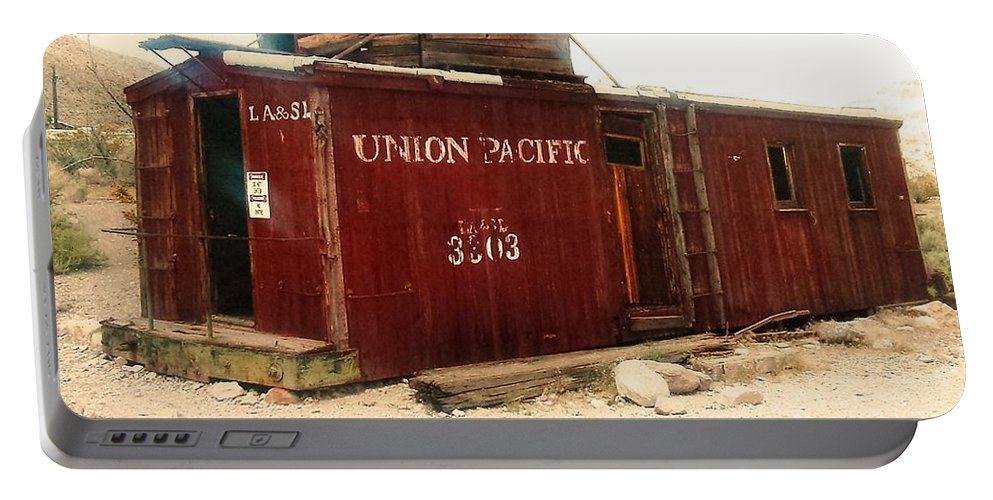 Union Portable Battery Charger featuring the photograph Union Pacific by Lisa Byrne