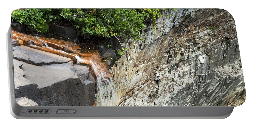 Desoto Falls State Park Little River Rock Rocks Landscape Landscapes Water Waterfall Waterfalls Tree Trees Mentone Alabama Parks Portable Battery Charger featuring the photograph Unique Perspective by Bob Phillips