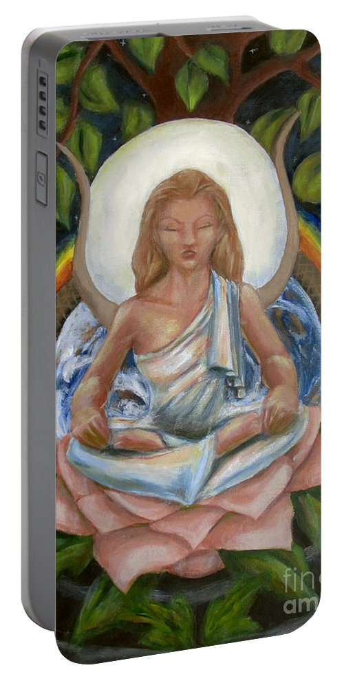 Goddess Portable Battery Charger featuring the painting Universal Goddess by Samantha Geernaert