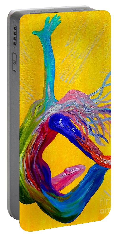 Unmerited Portable Battery Charger featuring the painting Unmerited Favor by Eloise Schneider