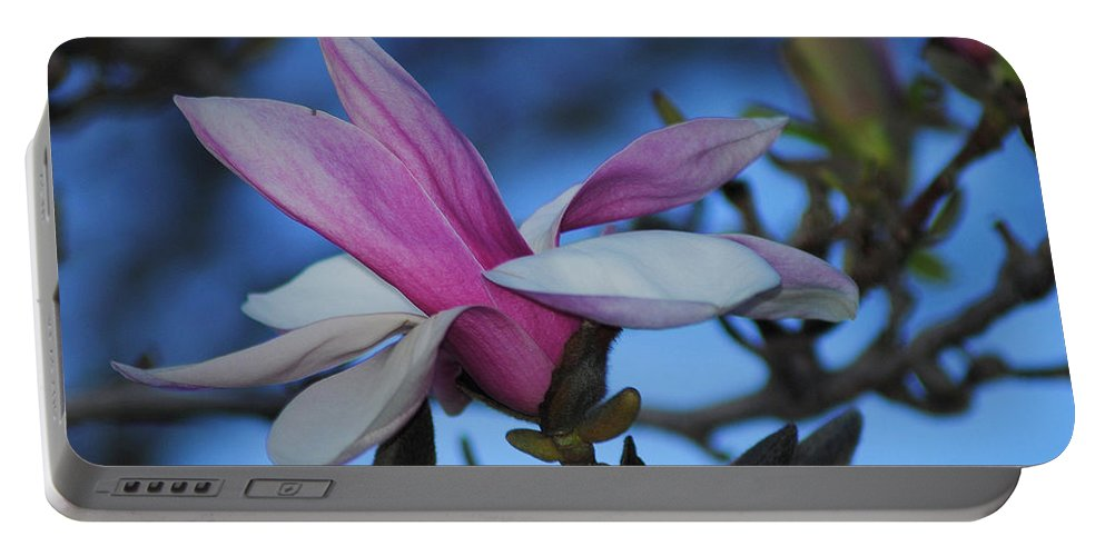Flower Portable Battery Charger featuring the photograph Unpealed by Frozen in Time Fine Art Photography