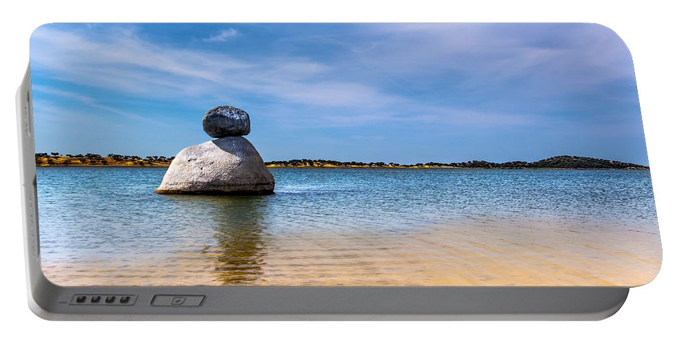Unstable Equilibrium Portable Battery Charger featuring the photograph Unstable Equilibrium by Edgar Laureano