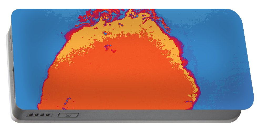 Abstract Portable Battery Charger featuring the digital art Untitled 2014, No. 1 by James Kramer