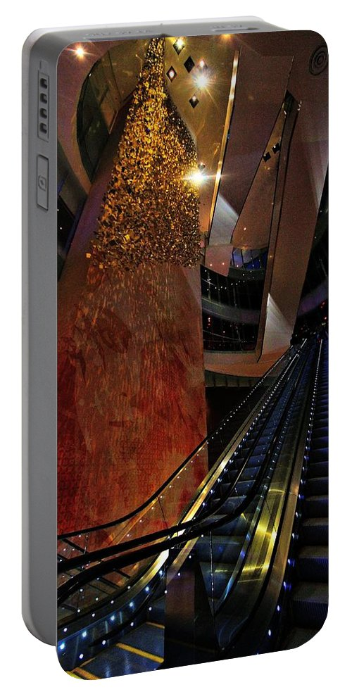 Escalators Portable Battery Charger featuring the photograph Up The Down Escalator by Robert McCubbin