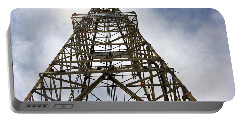Oil Well Portable Battery Charger featuring the photograph Up The Down Hole by Robert Brown