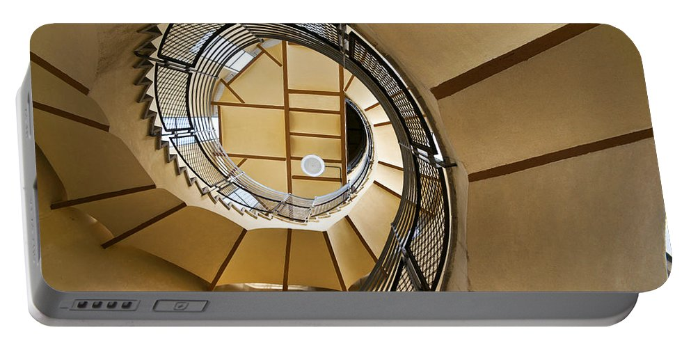 Curves Portable Battery Charger featuring the photograph Up The Staircase by Kent Nancollas